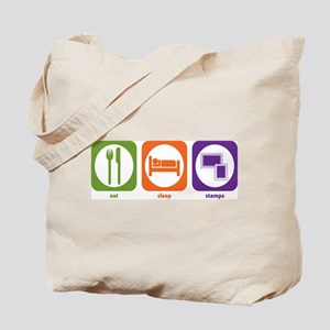 Eat Sleep Stamps Tote Bag