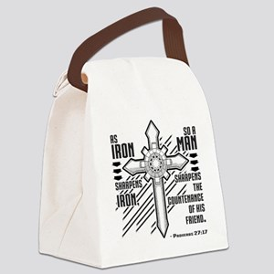 Iron Sharpens Iron Canvas Lunch Bag