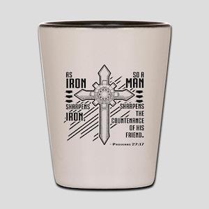 Iron Sharpens Iron Shot Glass