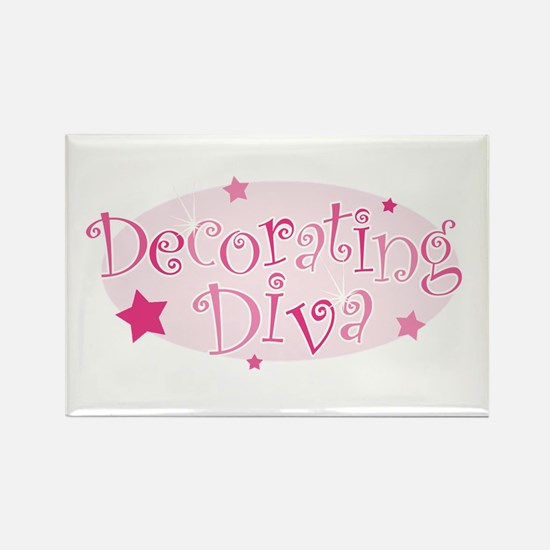 """Decorating Diva"" [pink] Rectangle Magnet"