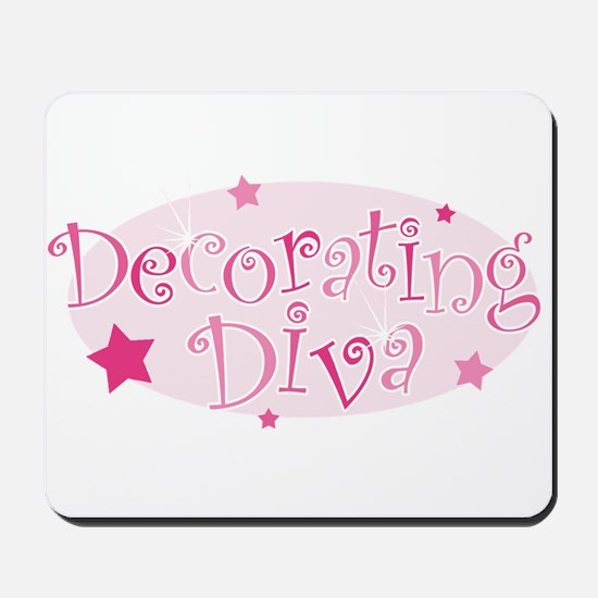"""Decorating Diva"" [pink] Mousepad"