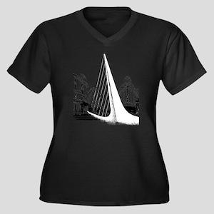 Buenos Aires Women's Plus Size Dark V-Neck T-Shirt