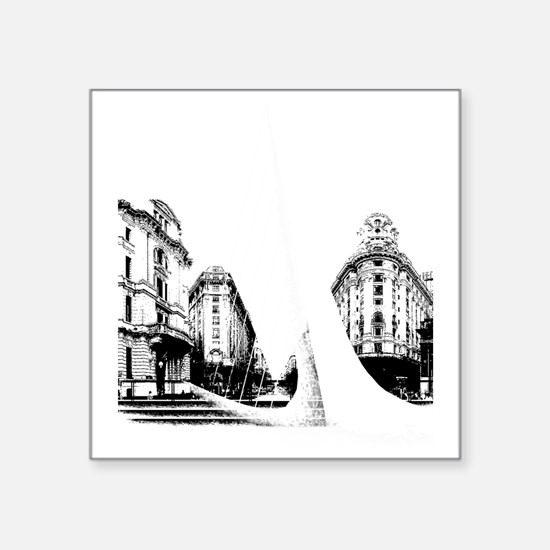 """Buenos Aires Square Sticker 3"""" x 3"""""""