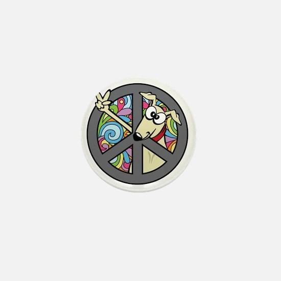 Greystock peace sign Mini Button