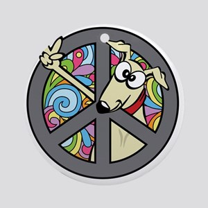 Greystock peace sign Round Ornament