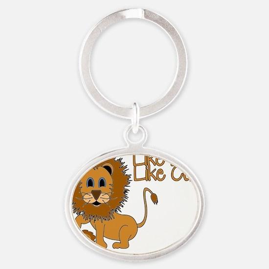 Like_Lion_Like_Cub Oval Keychain