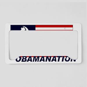 Obamanation License Plate Holder