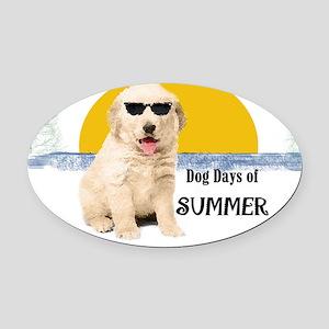 Dog_Days_of_Summer Oval Car Magnet