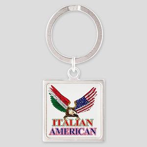 Italian American Square Keychain