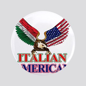 """Italian American 3.5"""" Button"""