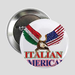 """Italian American 2.25"""" Button"""