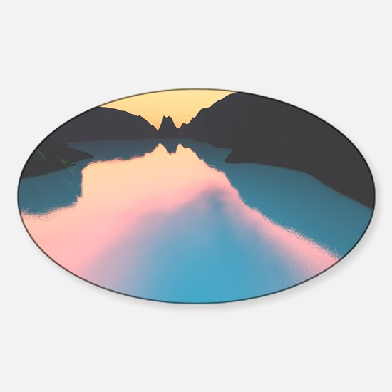 Indonesian crater lake Sticker (Oval)