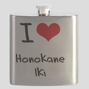 I Love HONOKANE IKI Flask