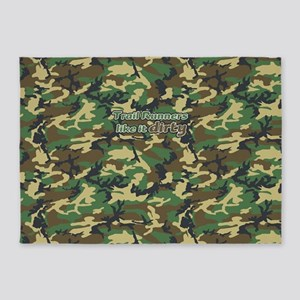 Trail Runners Like it Dirty Army Ca 5'x7'Area Rug