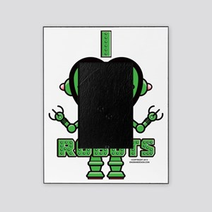 Bold Green Robot Picture Frame