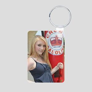 Teen Model Shianne Burton Aluminum Photo Keychain