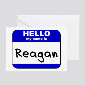 hello my name is reagan  Greeting Cards (Package o