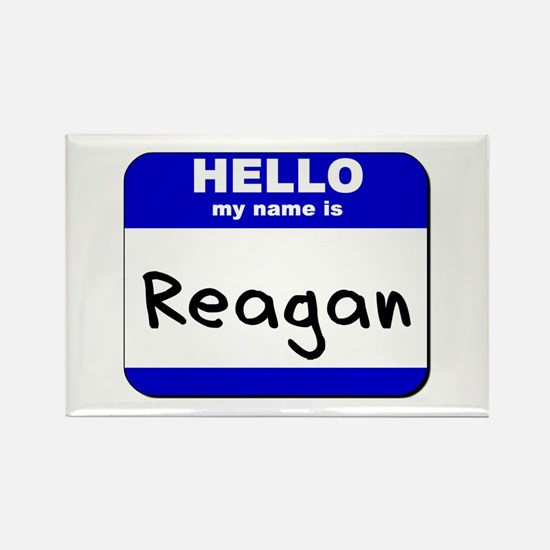 hello my name is reagan Rectangle Magnet