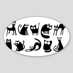 Cute cats Sticker (Oval)