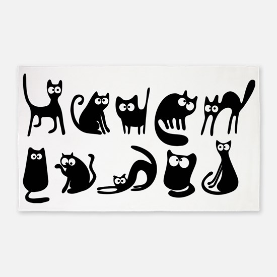 Cute cats 3'x5' Area Rug
