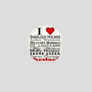 I Heart Sherlock Mini Button