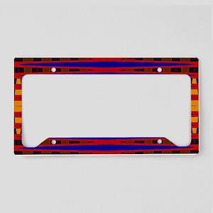 Bright Red Blue Modern Abstra License Plate Holder