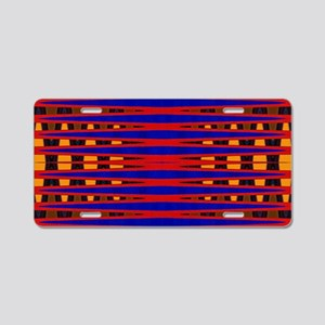 Bright Red Blue Modern Abst Aluminum License Plate