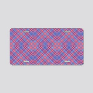 Colorful Blue and Pink Latt Aluminum License Plate
