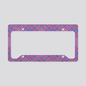 Colorful Blue and Pink Lattic License Plate Holder