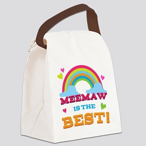MeeMaw is the Best Canvas Lunch Bag