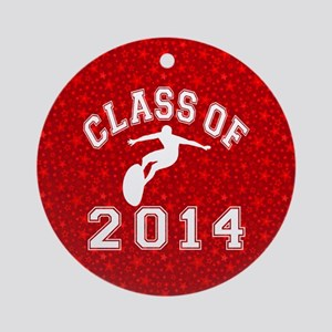 Class Of 2014 Surfing Round Ornament