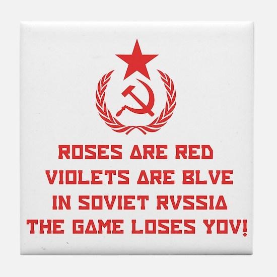 Soviet Russia Tile Coaster