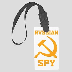 I am a Russian spy Large Luggage Tag