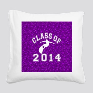 Class Of 2014 Surfing Square Canvas Pillow