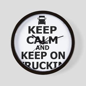 Keep Calm and Keep on Truckin Wall Clock