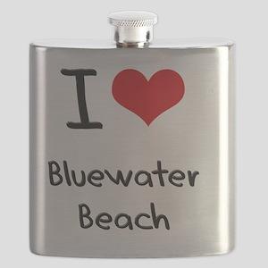 I Love BLUEWATER BEACH Flask