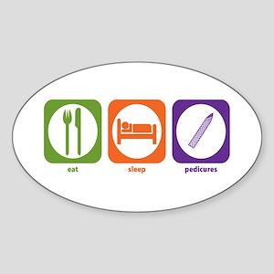 Eat Sleep Pedicures Oval Sticker