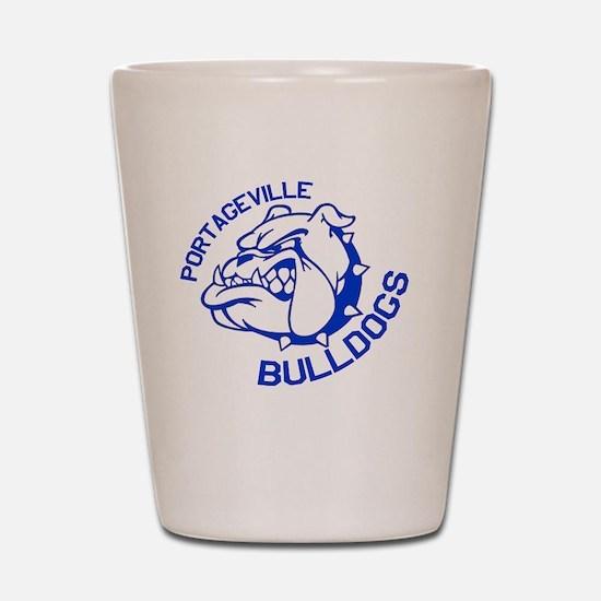 Bulldogs Shot Glass