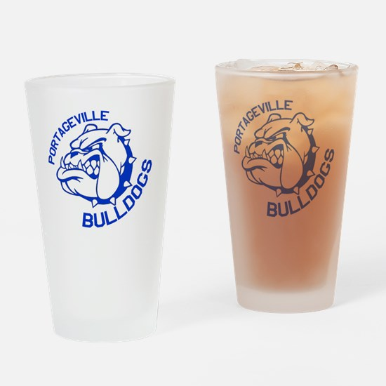 Bulldogs Drinking Glass