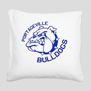 Bulldogs Square Canvas Pillow