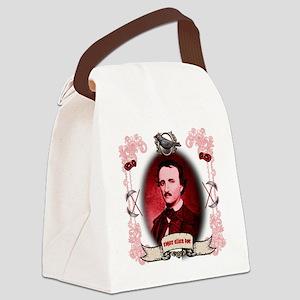 Edgar Allan Poe Raven Canvas Lunch Bag