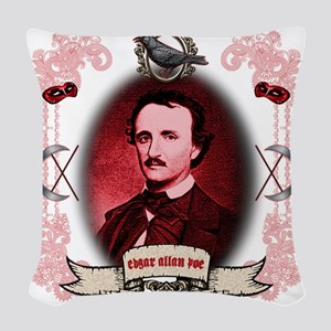 Edgar Allan Poe Raven Woven Throw Pillow
