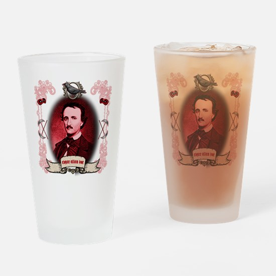 Edgar Allan Poe Raven Drinking Glass