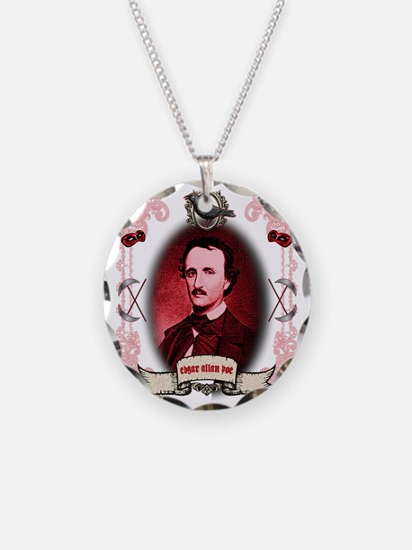 Edgar Allan Poe Raven Necklace Circle Charm