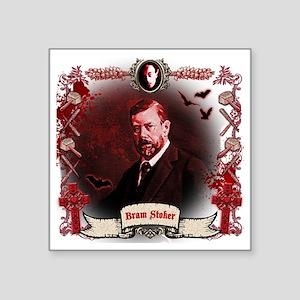 "Bram Stoker Dracula Square Sticker 3"" x 3"""