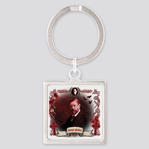 Bram Stoker Dracula Square Keychain