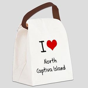 I Love NORTH CAPTIVA ISLAND Canvas Lunch Bag