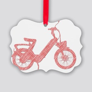 vintage scooter silhouette motorc Picture Ornament