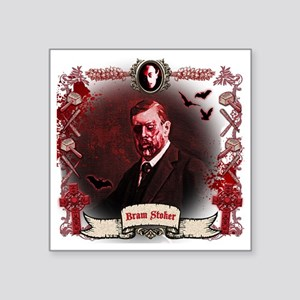 "Bram Stoker Dracula Zombie Square Sticker 3"" x 3"""