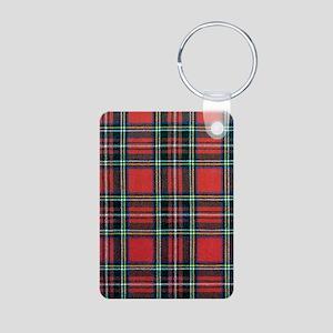 Royal Stewart Tartan Aluminum Photo Keychain
